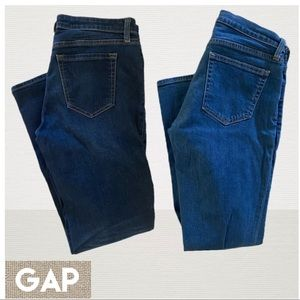 2 pairs Gap denim Straight Cuff and Skinny Jeans